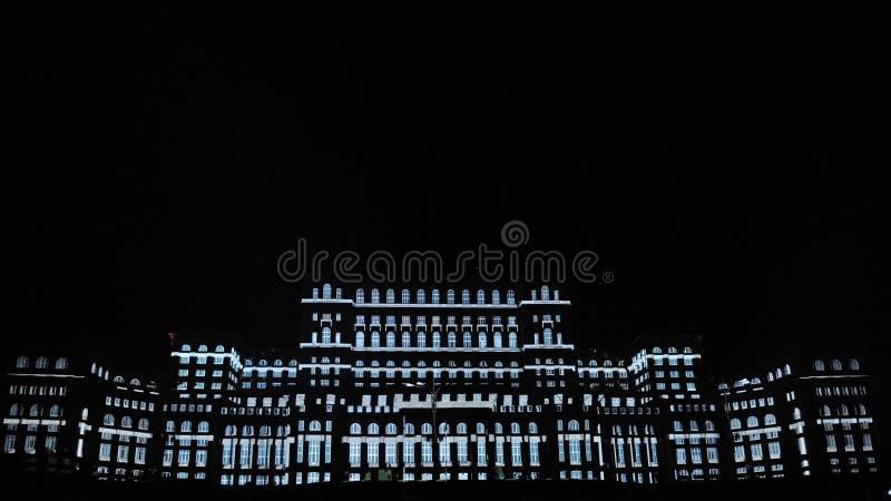 Slott av parlamentet Bucharest royaltyfri bild