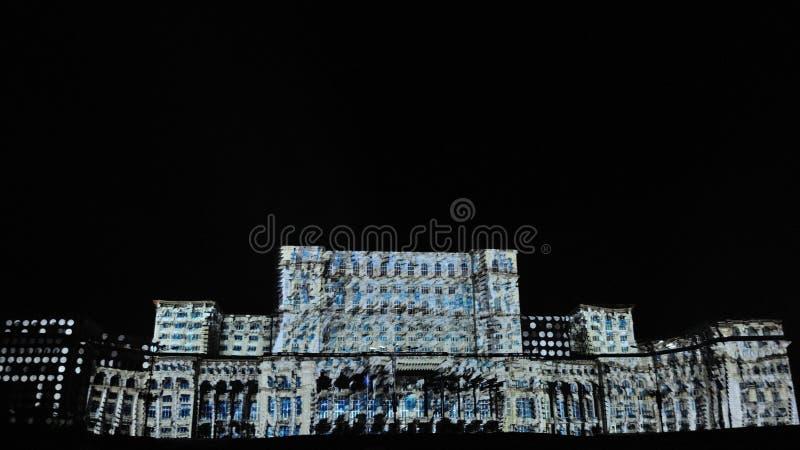 Slott av parlamentet Bucharest arkivbilder