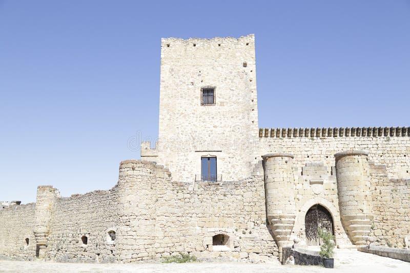 Slott av Pedraza Segovia, Castile och Leon, Spanien royaltyfria foton