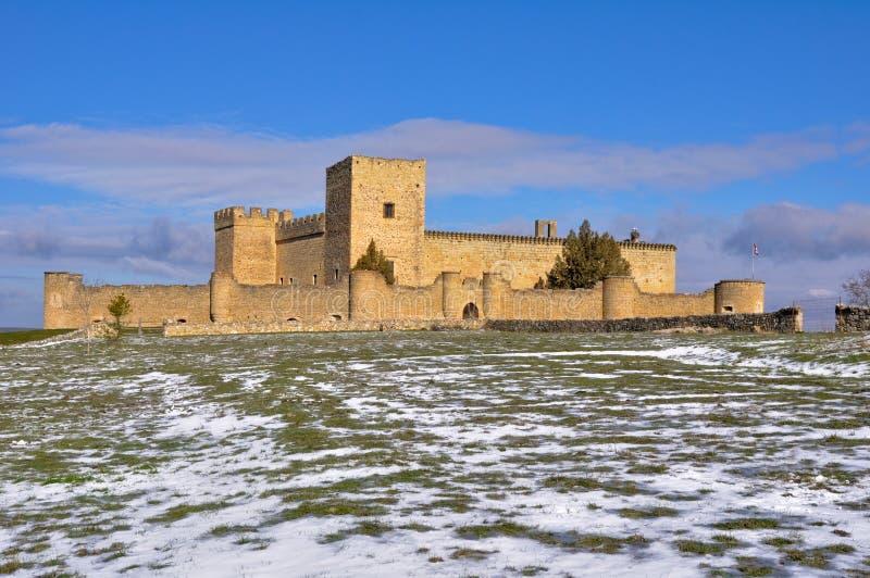 Slott av Pedraza, Segovia (Spanien) royaltyfri bild