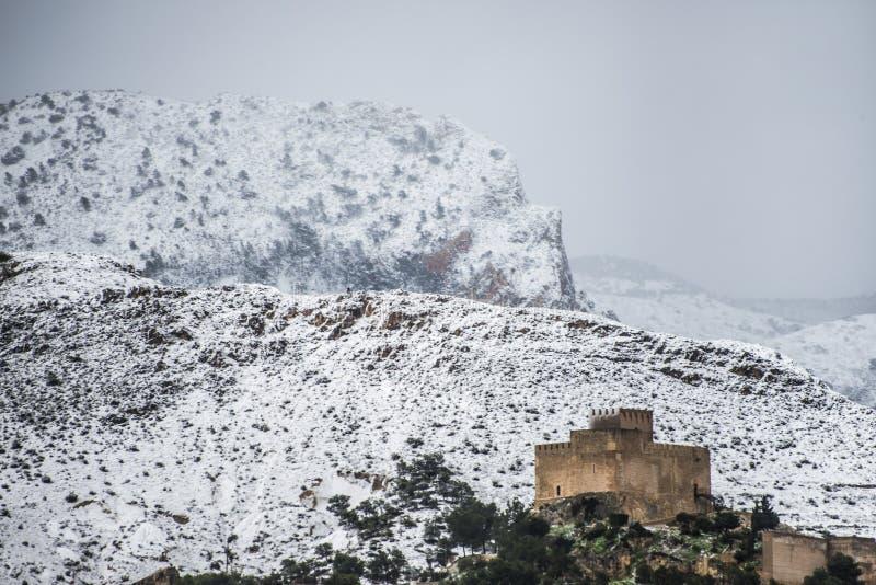 Slott av Petrer Alicante, Spanien arkivbilder