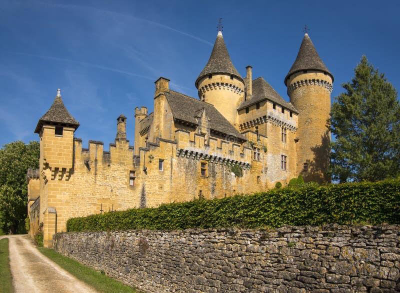 Slott av Puymartin fotografering för bildbyråer