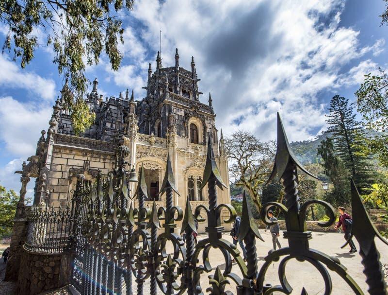 Slott av Quinta da Regaleira fotografering för bildbyråer