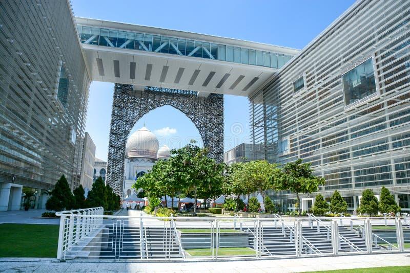 Slott av rättvisa, Putrajaya, Malaysia arkivfoto