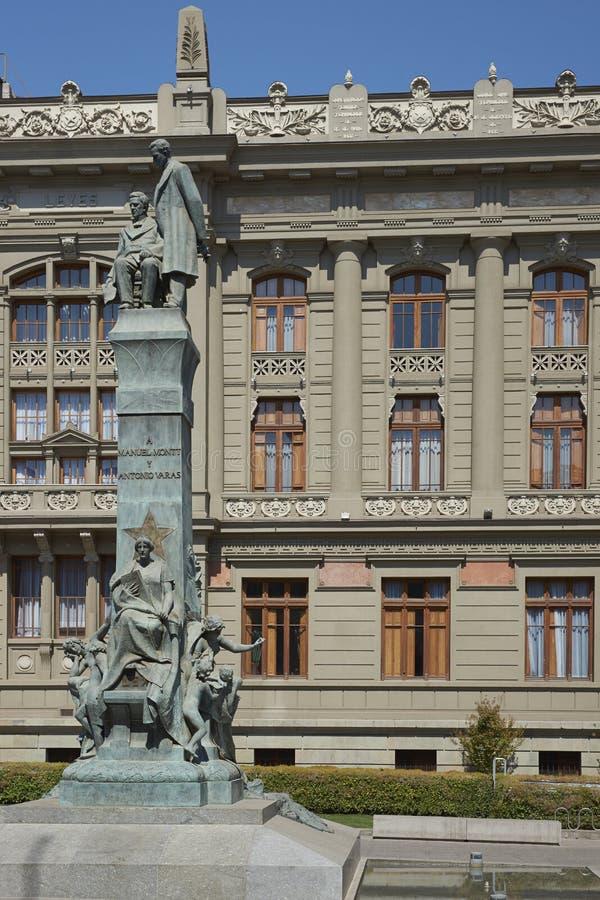 Slott av rättvisa, Santiago, Chile royaltyfria foton