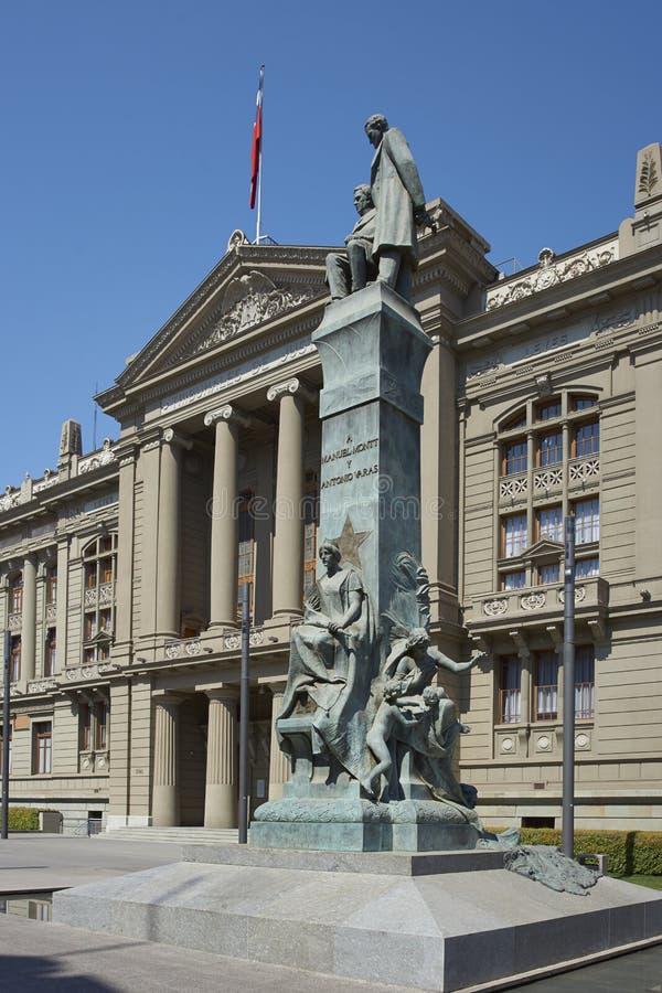 Slott av rättvisa, Santiago, Chile arkivbild