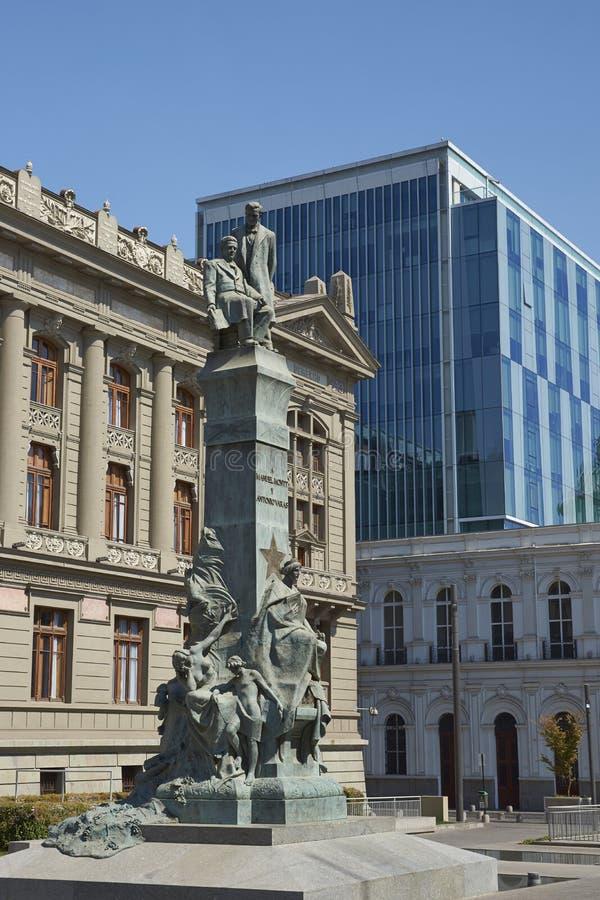 Slott av rättvisa, Santiago, Chile royaltyfri foto