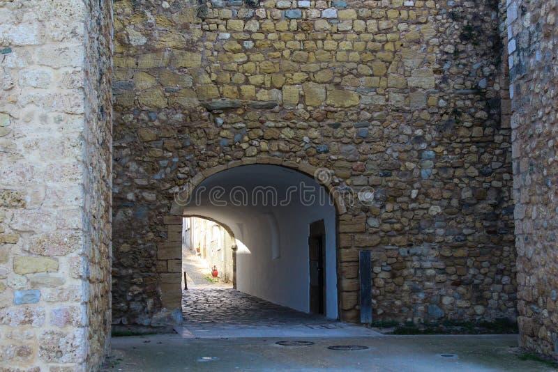 Slott av regulatorer, Lagos stad i Portugal arkivbilder