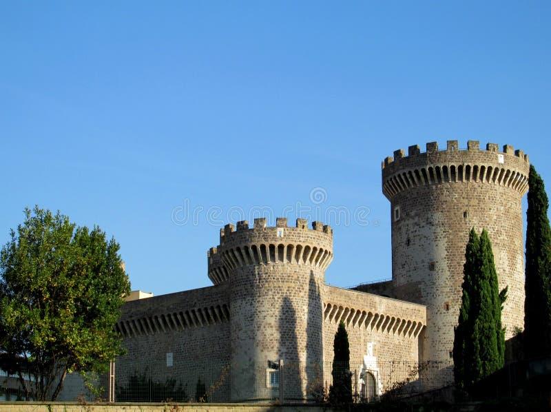 Slott av Rocca Pia, Tivoli, Rome fotografering för bildbyråer