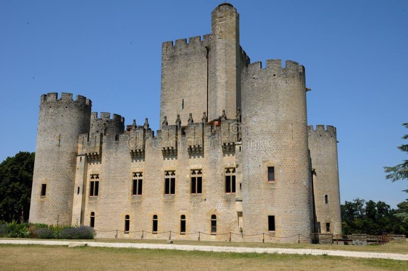Slott av Roquetaillade arkivbild