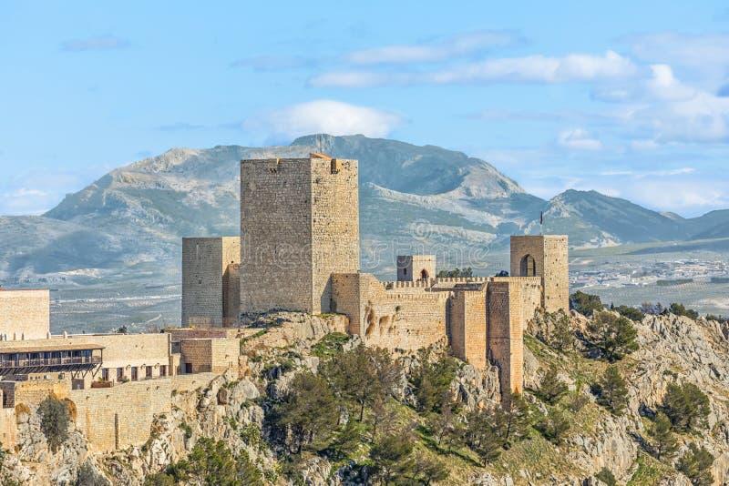 Slott av Santa Catalina i Jaen royaltyfria foton
