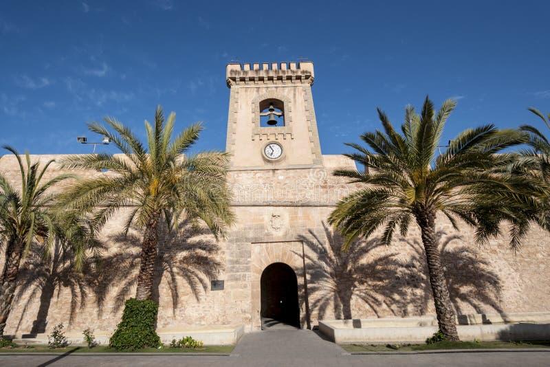 Slott av Santa Pola arkivbild