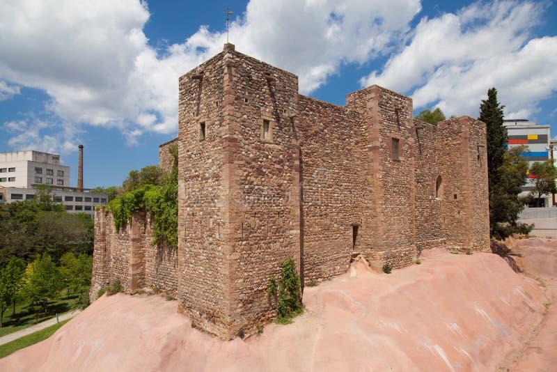 Slott av Terrassa arkivfoto