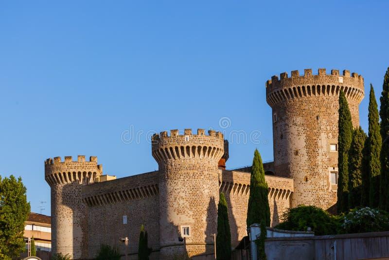 Slott av Tivoli Italien royaltyfri bild
