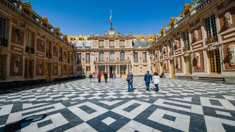Slott av Versailles, Paris arkivfoton