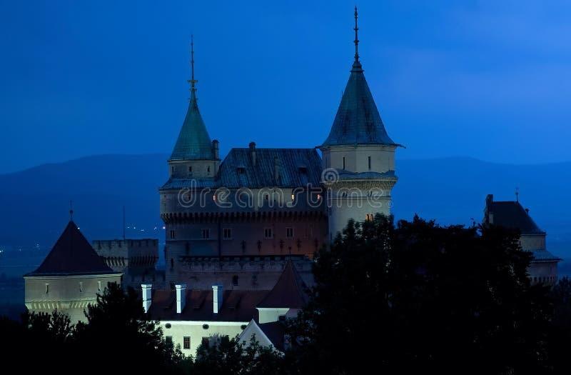 Slott Bojnice, Slovakien fotografering för bildbyråer