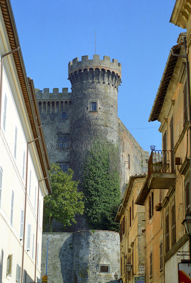 Slott Bracciano, Italien royaltyfria bilder
