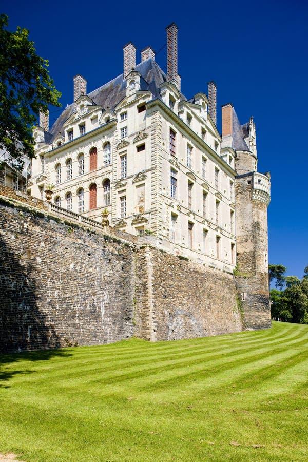 slott Brissac-Quincé, Pays-de-la-Loire, Frankrike royaltyfri foto