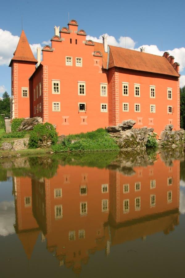 Slott Cervena Lhota i Tjeckien arkivfoton