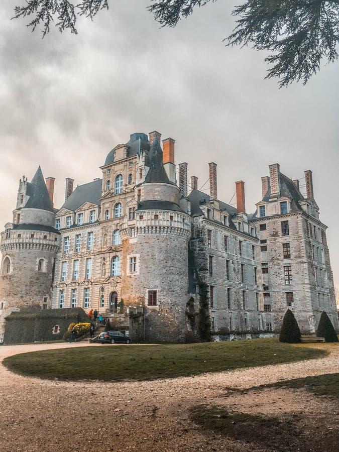 Slott/Château de Brissac fotografering för bildbyråer