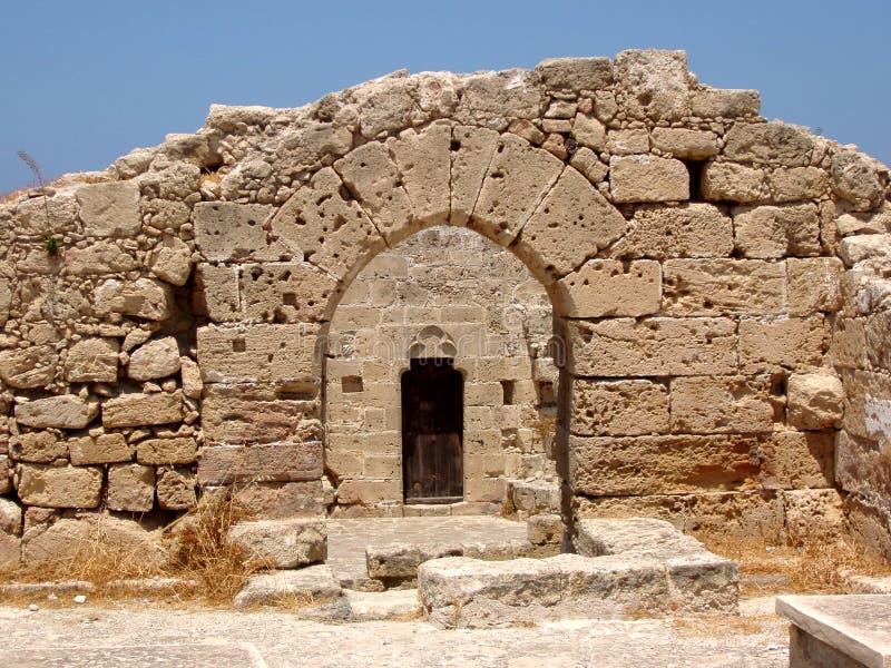 slott cyprus inom kyrenia arkivfoton