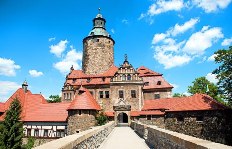 Slott Czocha i Polen, lägre Silesia arkivbild