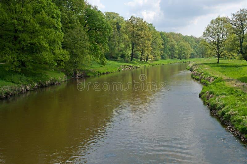 Slott dåliga Muskau, Tyskland royaltyfri foto