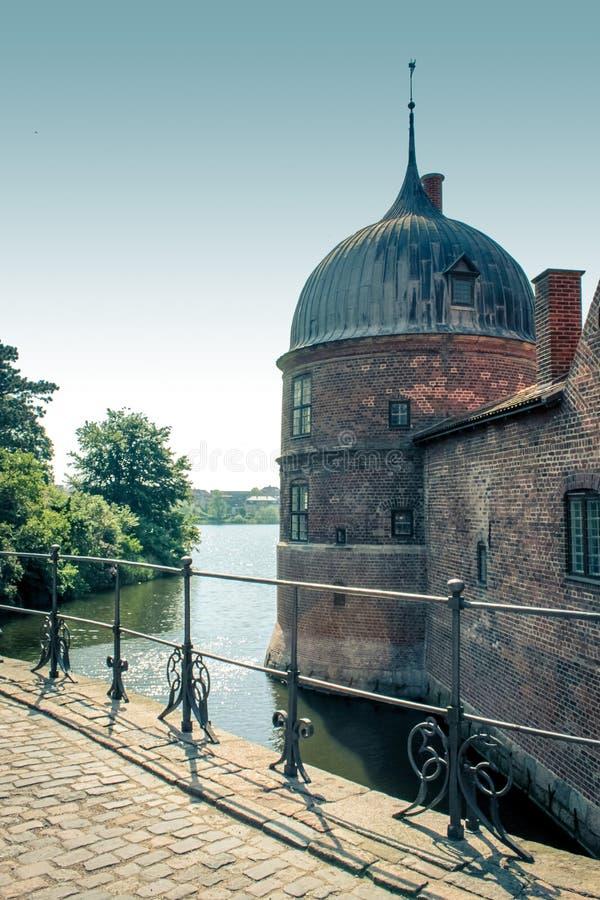slott denmark frederiksborg royaltyfria bilder