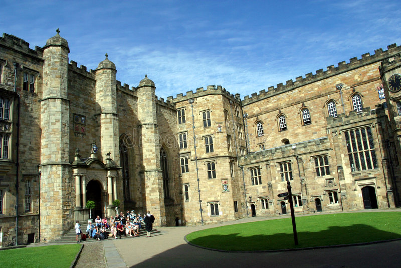 slott durham england arkivbilder