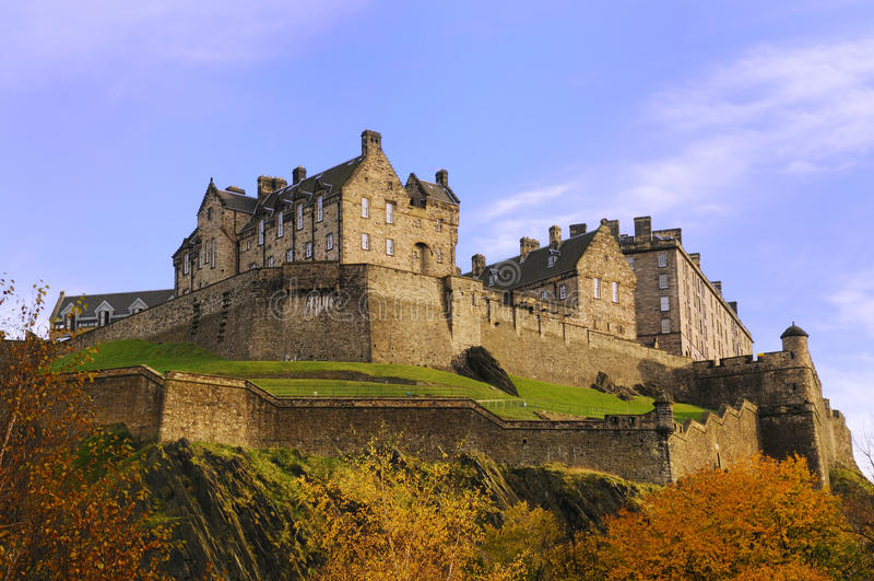 slott edinburgh royaltyfria foton