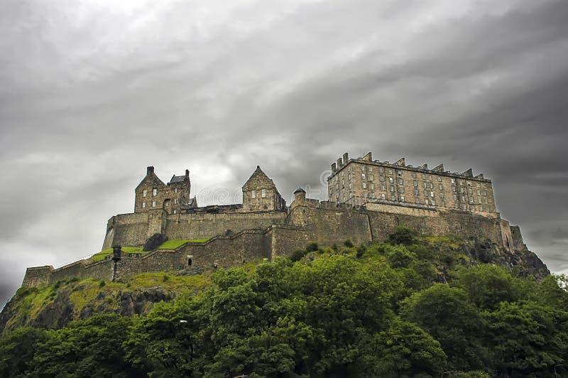 slott edinburgh royaltyfri foto