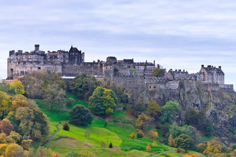 slott edinburgh scotland arkivbild