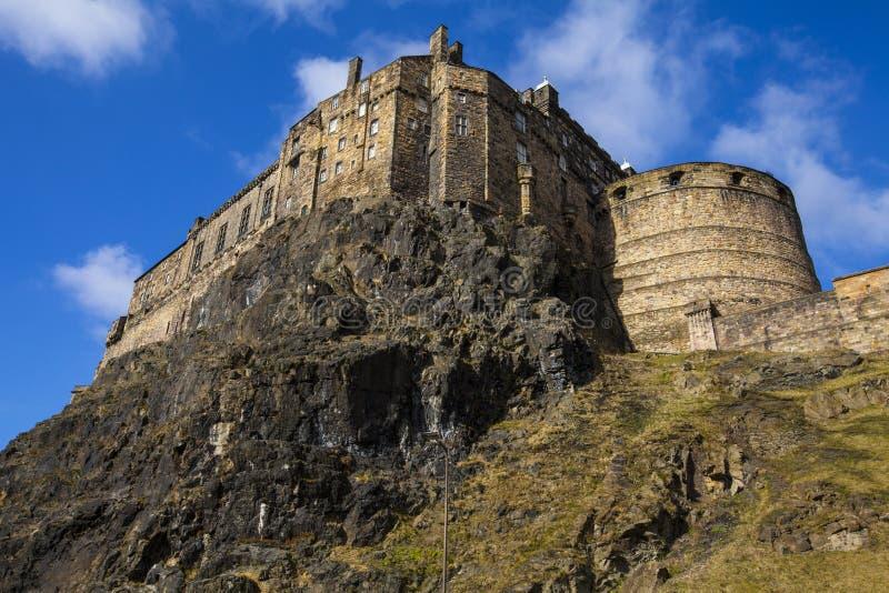 slott edinburgh scotland arkivfoto