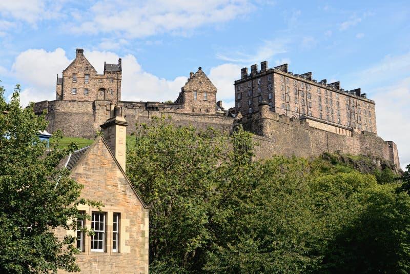 slott edinburgh västra scotland royaltyfri foto