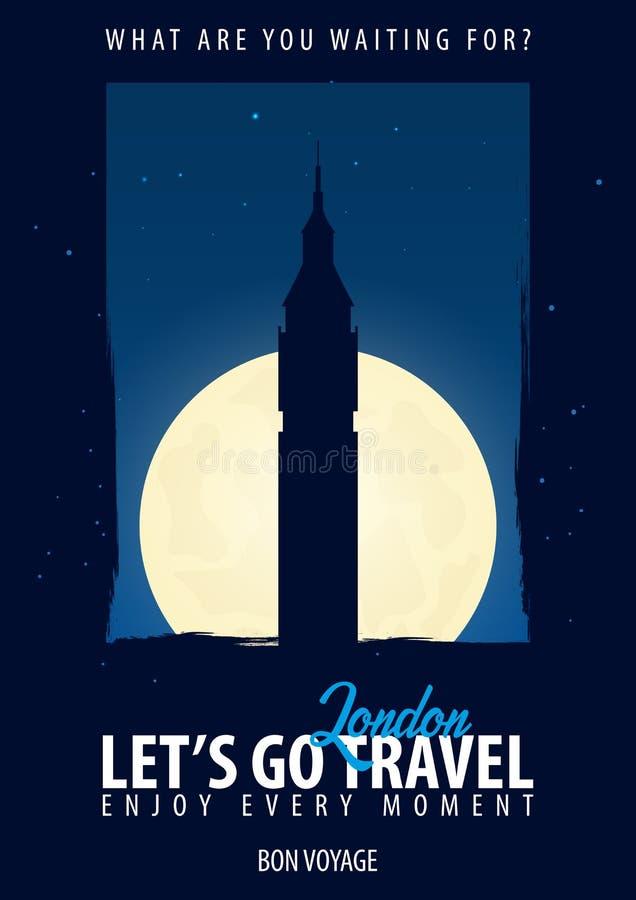 slott england london en väggwindsor tid att löpa Resa tur, semester Månebakgrund Bon Voyage royaltyfri illustrationer