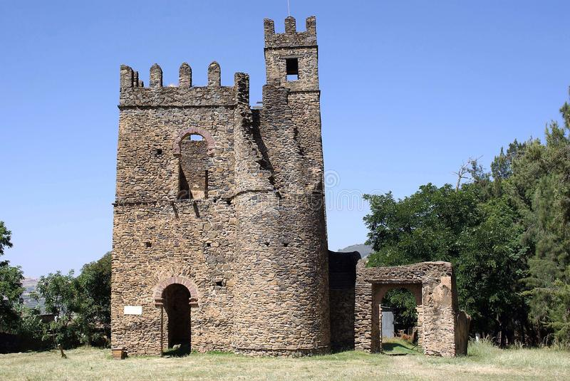 slott ethiopia arkivbild