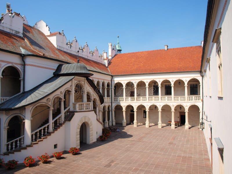 Slott för Baranà ³w Sandomierski, Polen royaltyfria bilder