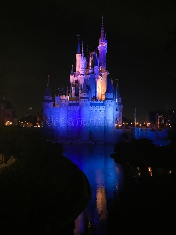 Slott för Cinderella ` s, Disney värld Florida royaltyfria bilder