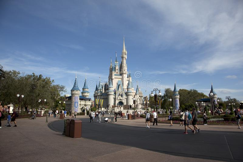 Slott för Cinderella ` s på Disneyworld arkivfoto