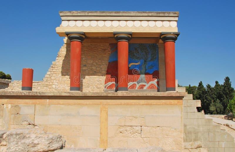 slott för crete iraklionknossos royaltyfri fotografi