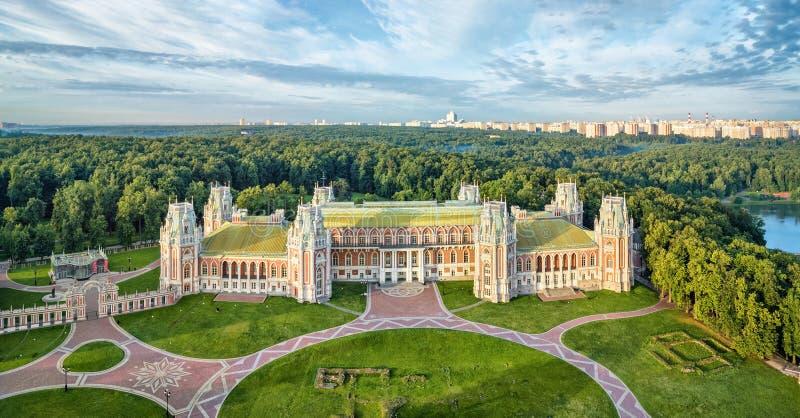 Slott för drottning Ekaterina i Tsaritsyno, Moskva fotografering för bildbyråer