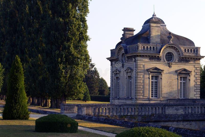 Slott för Franco-amerikan museumBlérancourt fransk amerikansk kamratskap royaltyfri fotografi