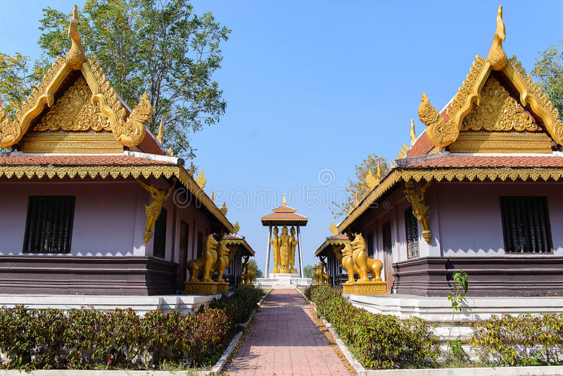 Slott för guld två royaltyfri fotografi
