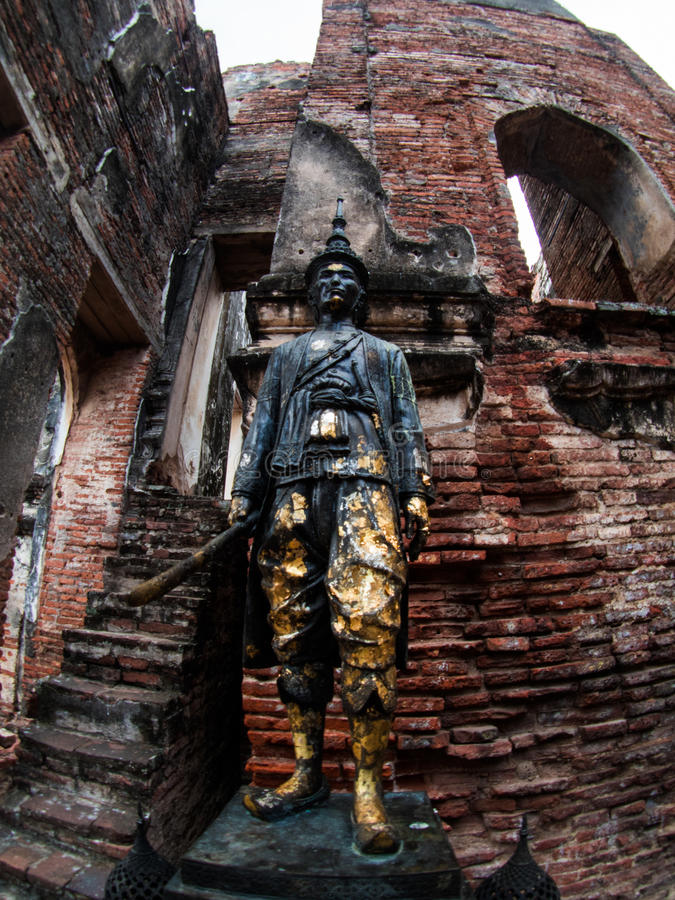 Slott för konung Narai The Great, Lopburi, Thailand arkivbild