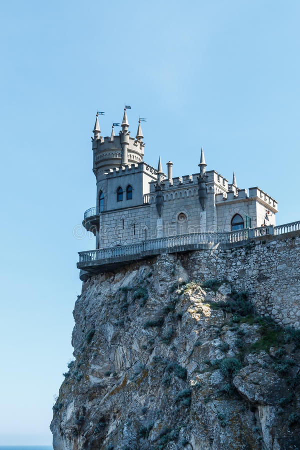 Slott för rede för svala` s royaltyfria foton