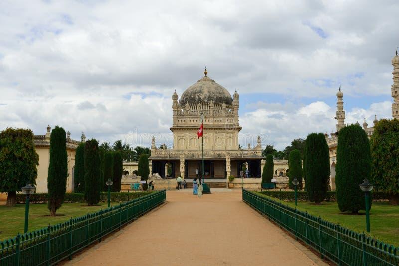 Slott för sommar för Tipu sultan` s, Indien royaltyfri foto