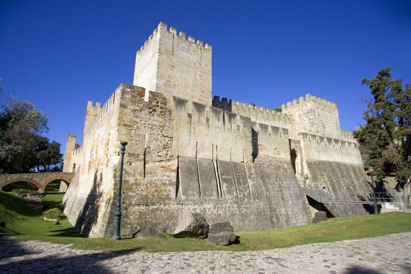 Slott för St George ` s i Lissabon royaltyfri fotografi