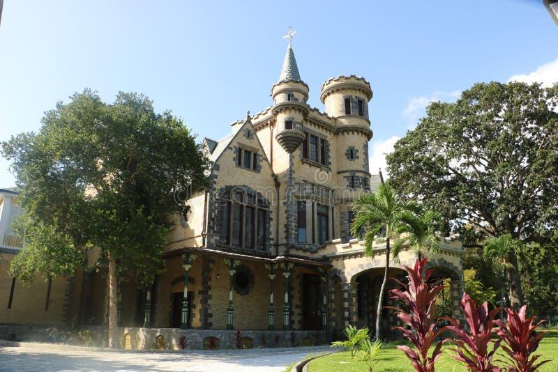 Slott för Stollmayer ` s i port - av - Spanien, Trinidad och Tobago arkivbilder