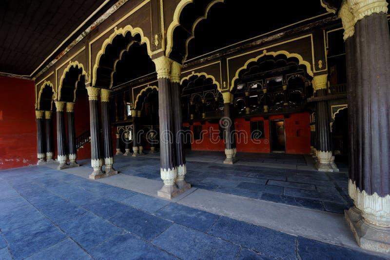 Slott för Tipu sultan` s i Karnataka, Indien royaltyfri foto