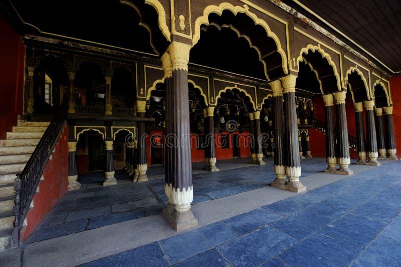 Slott för Tipu sultan` s i Karnataka, Indien arkivfoton